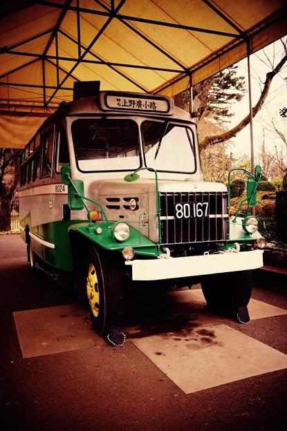昔の賑わう町を走るボンネットバス。。江戸東京たてもの園 20160313