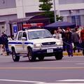 米海軍横須賀基地内の緊急車両。。走行 20160320