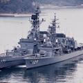 海上自衛隊吉倉桟橋に停泊中。。護衛艦はたかぜと護衛艦やまゆき。。20160320
