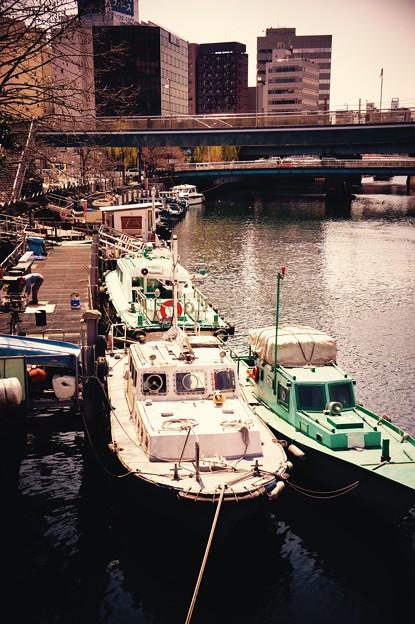 横浜大岡川の河口。。船乗り場。。220160327