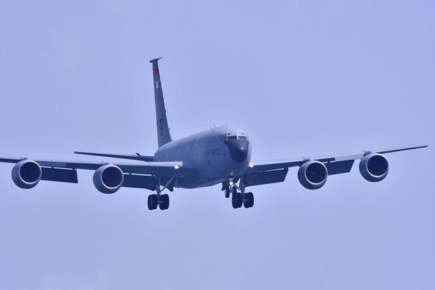 撮って出し。。GWの岩国基地へ飛来 嘉手納のKC-135ストラトタンカー アプローチ 5月4日