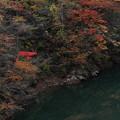Photos: 淵の色・紅葉の色