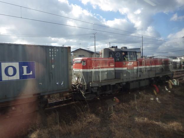 奥羽本線車窓風景~入換作業のDE10-1197