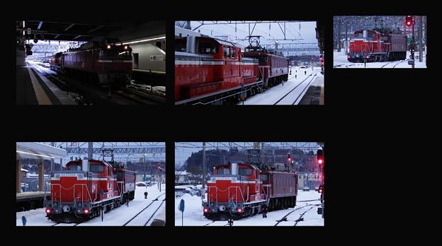 秋田駅~EF81-134牽引DD51-888配給
