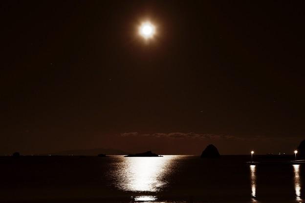 月夜の晩に・・・伊豆大島を臨む
