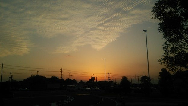 【9月28日は秋葉原へ!その9】今日の夕焼け