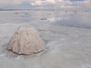 ウユニ塩湖3 塩の採取方法