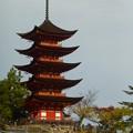 厳島神社 五重塔