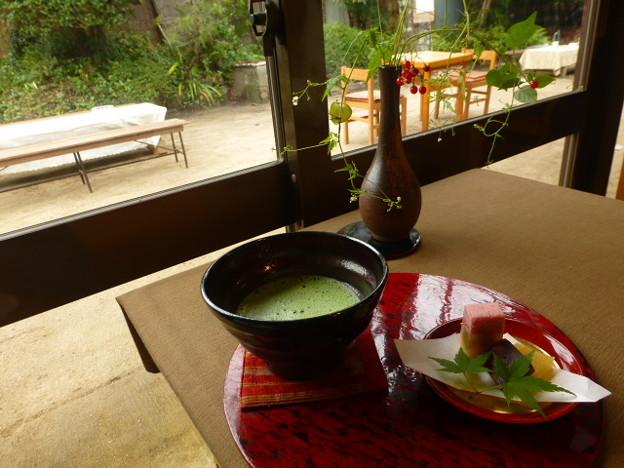 抹茶と和菓子@遊鹿里茶屋