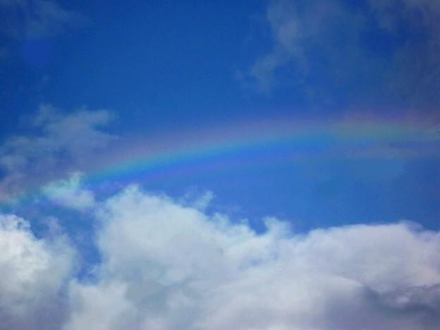 写真: 虹。