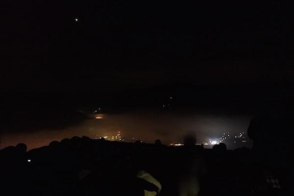 午前5:25の雲海の様子