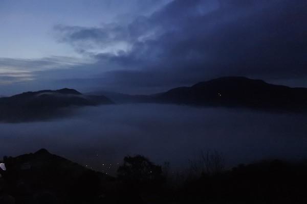 6時過ぎの竹田城跡からの雲海