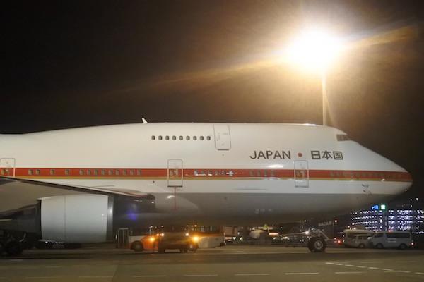 JALの旧塗装っぽい、ボーイング747ジャンボジェット