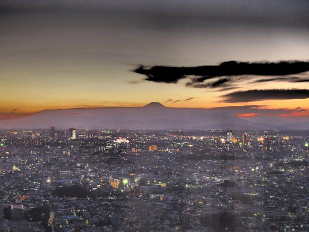ヴェールの中の富士