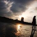 写真: 八里的日落