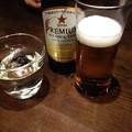 写真: 獺祭とノンアルコールビール