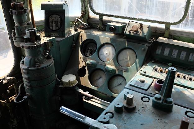 機関車の運転席