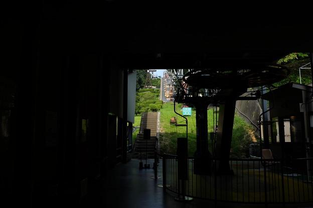 松山城のリフト乗り場