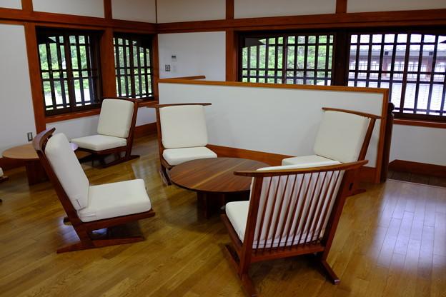 商工奨励館の休憩所