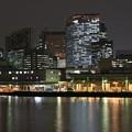 写真: [32]「築地市場の灯りとビルの明かり」