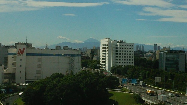 台風通過後の富士山