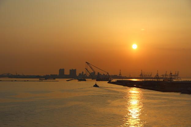 神戸の朝景