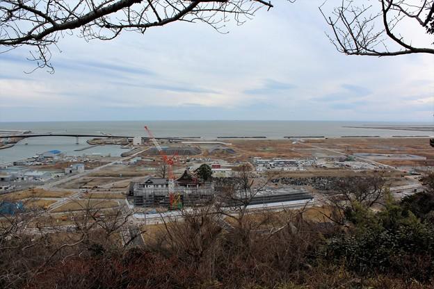 28.2.15日和山から望む南浜町・門脇町方面