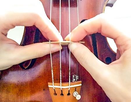 中野・江古田 バイオリン 個人レッスン ヴィオラ 吉瀬弥恵子 ワイズ音楽教室 駒の角度の直し方