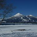 猪苗代湖畔より宝の山を・・