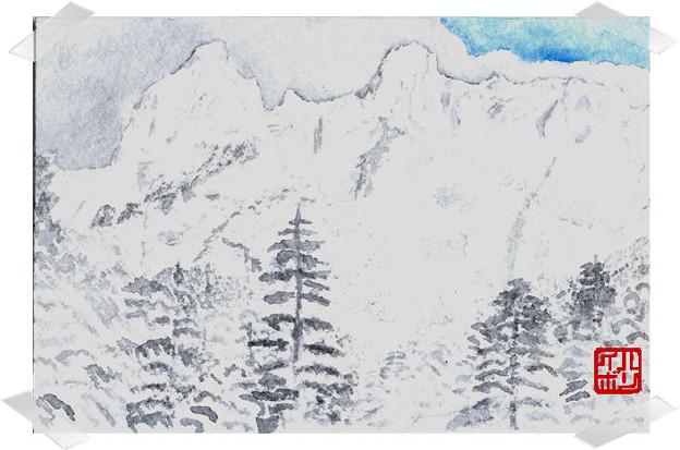 05厳冬の八ヶ岳 横岳西壁 大同心 小同心