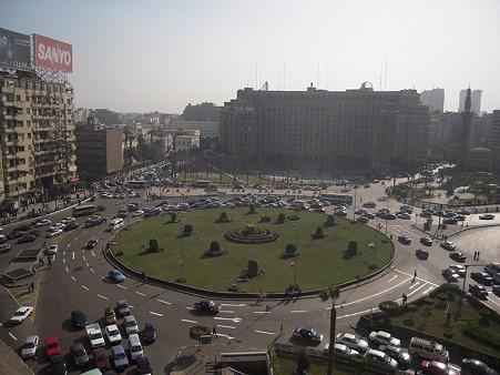 タハリール広場を俯瞰