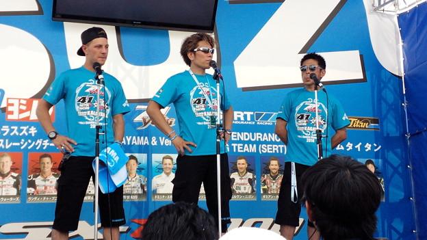 写真: 鈴鹿8耐 芳賀紀行 ドミニク・アガター 加賀山就臣 SUZUKI GSX-R1000  208299879_org.v1407107850