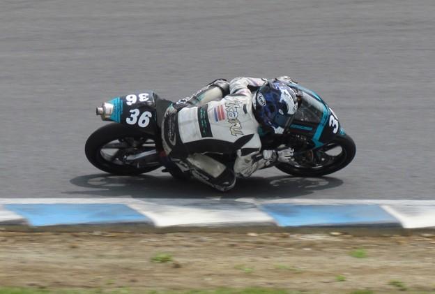写真: 2014 36 吉広光 HONDA NSF250R CLUBNEXT and MOTOBUM MFJ 全日本ロードレース J-GP3 ホンダ SUPERBIKE もてぎ IMG_5814