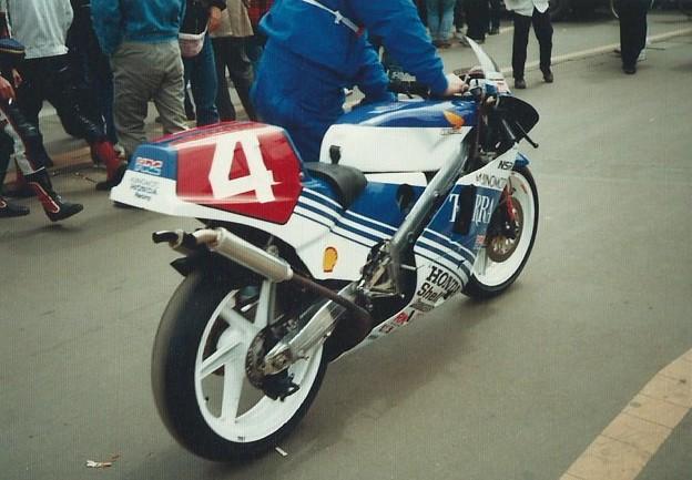 写真: 1987 HONDA NSR250 Masaru Kobayashi 小林大 味の素ホンダ